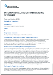 International Freight Forwarding Specialist Apprenticeship Standard
