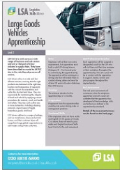 Large Goods Vehicles Apprenticeship