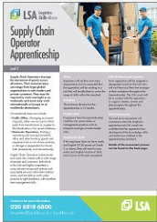 Supply Chain Operator Apprenticeship